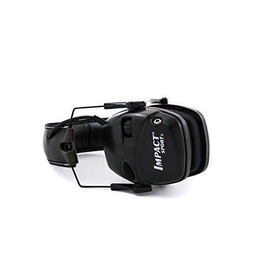 Honeywell 1034490 Howard Leight Casque Antibruit Impact Sport Black, SNR 25