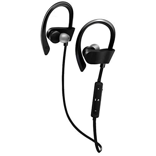 DAMIGRAM Cuffie Bluetooth Magnetiche 4.1 Auricolari Impermeabili IPX6 Stereo Wireless Ultraleggere, 8 Ore di Riproduzione, Magneti Integrati, Cancellazione del Rumore (Black)