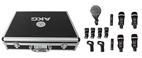 AKG Acoustics Drum Set Concert 1 Professional Drum Microphone Set with D112 MkII Bass Drum, 2X C430 Overhead and 4X D40 Microphones, Model:2581H00160