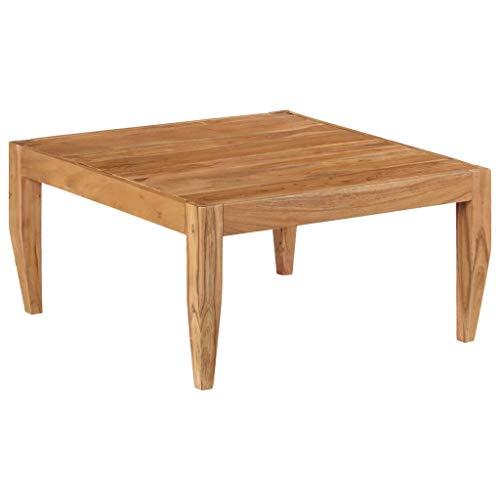 vidaXL Table Basse Bois d'Acacia Massif Marron Table Salon Table d'Appoint
