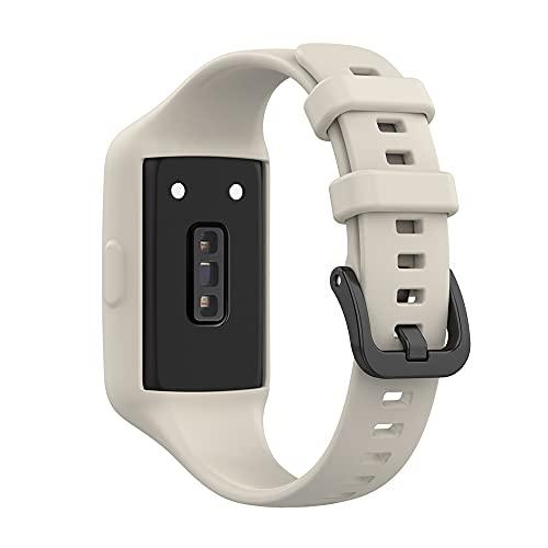 KINOEHOO Correas para relojes Compatible con Honor band 6/for Huawei band 6 Pulseras de repuesto.Correa de Reloj.(Gris)