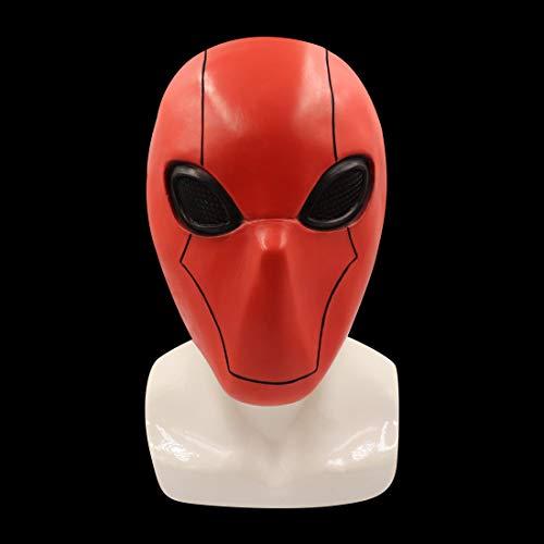 Red Hood Mask Full Head Helmet Cosplay Halloween Costume Accessories Adult Kids