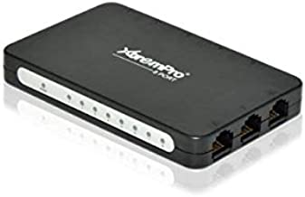 XtremPro 3-Port USB Powered 10/100Mbps Ethernet RJ45 Network Switch Hub - Black (61024)