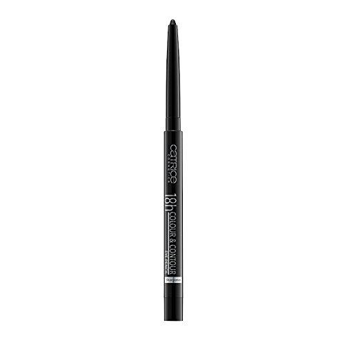 Catrice 18h Colour & Contour Eye Pencil, Kajal, Integrierter Anspitzer, Nr. 010 Me, My Black And I, schwarz, definierend, langanhaltend, matt, vegan, Nanopartikel frei (0,3g)