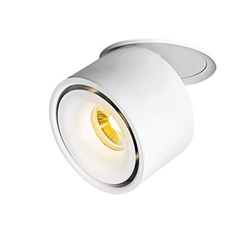 LANBOS 10W LED Einbaustrahler/LED downlight/LED Deckenleuchten Spot/LED Deckenstrahler Einbauleuchten/LED Strahler Deckenspots/3000K Warmweiß / 10 * 8CM/Falten Drehen Aufputz Deckenleuchte (Weiß)