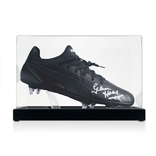 Glenn Hoddle Signed Soccer Shoe. In Display Case   Autographed Memorabilia