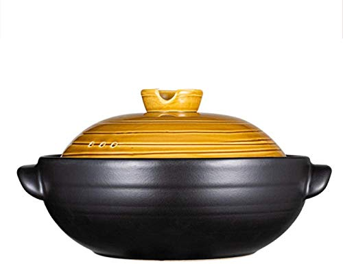 WANGP Casserole Dish, 1.5 L/2.5 L Household Ceramic Pot, High Temperature Resistance, Multifunctional Soup Pot, Ideal for Classic Cooking Cast,2.5l