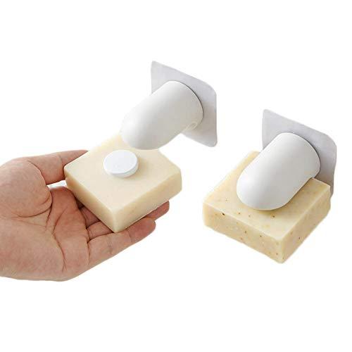 YSAGNZQ Zeep Zuignap aan de muur - Magnetische Punch-vrije Zeepplank, muur Badkamer Zeep Accessoires Bespaar ruimte, Verminder Bacteriën, Breng aan op alle soorten muren