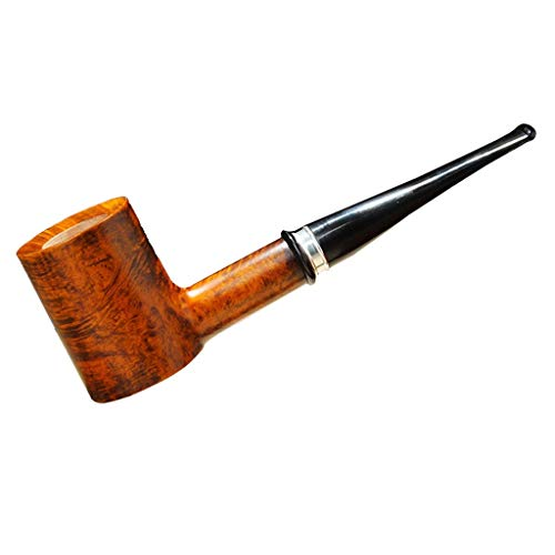 LiLiG Pipa de Madera Hecha a Mano de Piedra, Pipa Recta de Filtro Manual Retro, Accesorios para Fumar de Regalo para Hombres