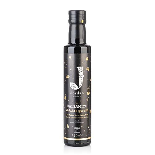 Jordan Original Bio Balsamico – 250 ml Balsamessig aus Trauben ohne Konservierungsstoffe / Sulfite