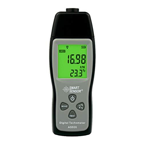 TLF-FF Instrumentos de medición de velocidad de fotos digital tacómetro láser del tacómetro Rango 30000RPM Pantalla LCD AS926 medidor de velocidad del motor