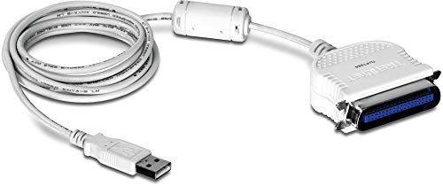 TRENDnet USB to Parallel 1284 Converter Cable, TU-P1284, USB 1.1/2.0/3.0, Windows 10/8.1/8/7, Mac OS X 10.6-10.9, 2 m (6.6 ft) Length, Connect Parallel Port Printers to a USB Port, Plug & Play