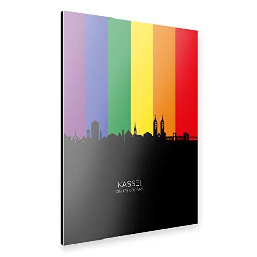 artboxONE Alu-Print 30x20 cm Kassel Germany Skyline Pride von Künstler Michael Tompsett