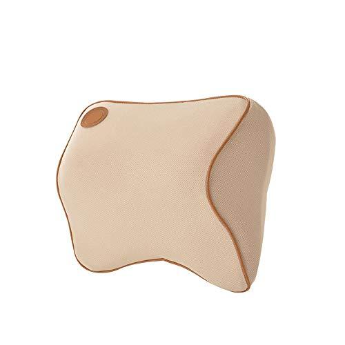 Car nekkussen autozitje Ondersteunt nek en verlicht Hals Pijn Cushion Onderdelen for Travel Soft Memory Foam QPLNTCQ (Color : Creamy-white, Size : Free)