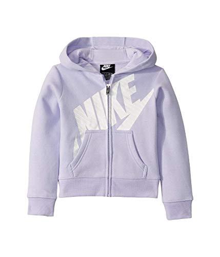 Nike Kids Girl's Futura Full Zip Hoodie (Little Kids) Lavender Mist 4 Little Kids