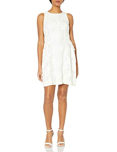 Tahari by Arthur S. Levine womens7120M243Sleevless Chemical Lace Dress Sleeveless Dress - White - 8