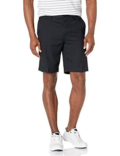 PGA TOUR Men's Expandable Flat Front Golf Short, Caviar, 32