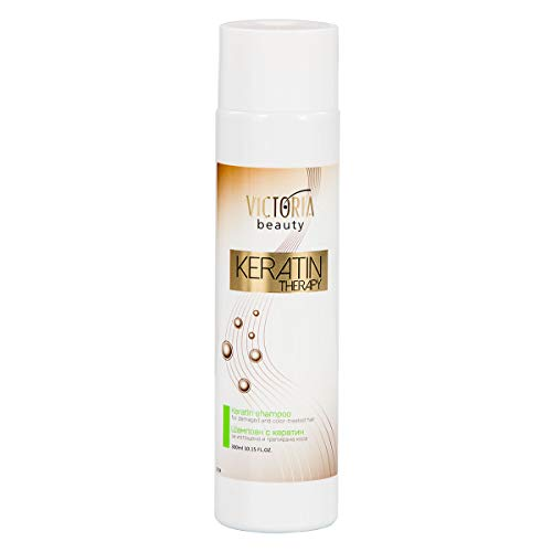 Victoria Beauty - Keratin Shampoo für dauerhafte Haarglättung, Haarshampoo geeignet für ge-färbtes und geschädigtes Haar - Haarreparatur, Haarwachstum, Hair Treatment (1 x 300ml)