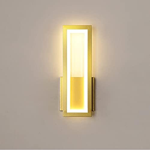 Lámpara de pared de lujo con luz nórdica, lámpara de cabecera de sala de estar interior, diseño creativo rectangular simple moderno, accesorio de iluminación interior, pared, dispositivo de decoración