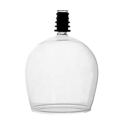 Botella de vino Gafas Corchos Vino Copa de vino Tapeta Tapeta de la novedad Bebida de la novedad de la botella Duradera Perfecta Taza de bebida Copa Topper Regalo