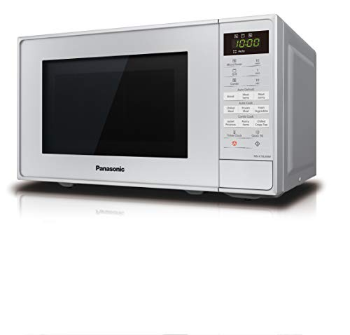 Panasonic NN-K18JMMBPQ Microwave Oven with Grill and Turntable, 20 Litres, Silver