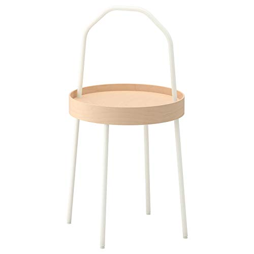 My- Stylo Collection Stolik boczny, biały, odporny na plamy, samoregulujący, rozmiar produktu: Wysokość z uchwytem: 78 cm Wysokość: 45 cm Średnica: 38 cm