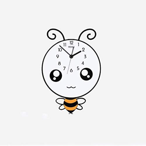 Aiglen Grandes Dibujos Animados Relojes Colgantes Pared DIY Pegatinas De Pared Decoración De Pared Mira Punteros De Metal Sala De Estar Horloge Hogar (Size : 40X57.5CM)