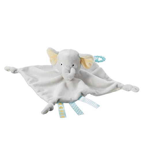 Tommee Tippee Doudou Suave para Bebés, Peluche con Mordedor, 0m+, Diseño Limpia Fácil, Ernesto el Elefante, Gris