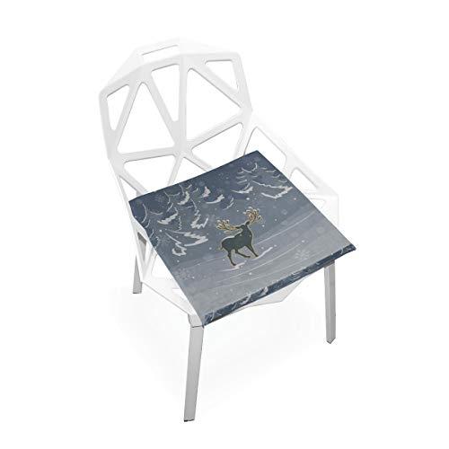 Enhusk Reizende Gruß-Weihnachts-Rotwild-Gewohnheit weiche rutschfeste quadratische Gedächtnisschaum-Stuhl-Auflagen-Kissen-Sitz für Hauptküche Esszimmer Büro-Rollstuhl-Schreibtisch-Holzmöbel Innen 16