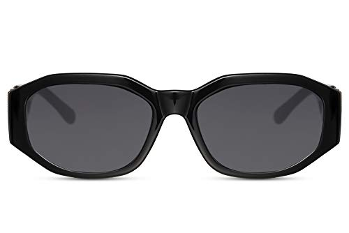 Cheapass Gafas de Sol Irregular Forma Negras con Grandes...