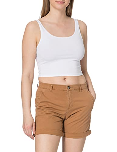 edc by ESPRIT Damen 031CC1C301 Shorts, 235/CARAMEL, 40