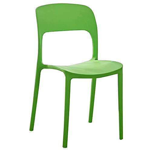 WSDSX Stuhl Esszimmer Plastikstühle Home Computer Stuhl Stapelbar Wohnzimmer Lounge Stuhl Gebogener Sitz Lager stark Geeignet für Wohnzimmer, Büro, Schlafsaal 2-teiliges Set (Farbe: Gelb)