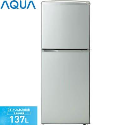 アクア 137L 2ドア冷蔵庫 シルバーベーシックAQUA AQR-141A-SB