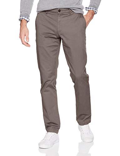 Goodthreads Men's Slim-Fit Washed Stretch Chino Pant, Grey, 32W x 32L