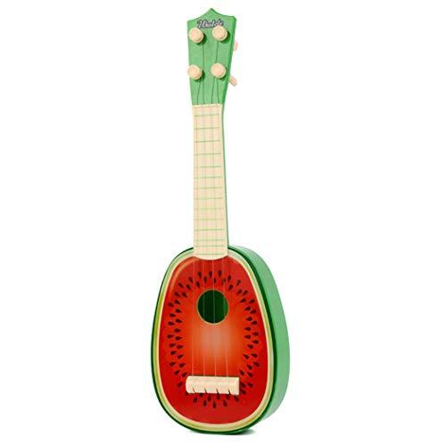 CACAZI Ukelele Para Niños, Mini Guitarra Educativa Ajustable, Mini Ukelele De Rasgueo, Patrón De Frutas, Instrumento Musical De Ukelele