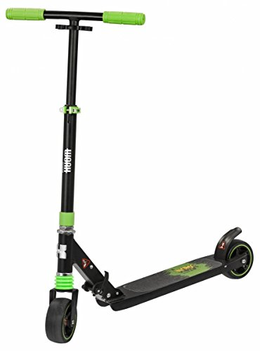 WORX 5th Avenue, 125mm Wide Wheels Scooter, Schwarz/Grün, 68-87cm