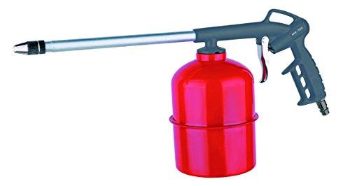 Sprühpistole   Druckluftpistole mit Saugbecher 1,0 l für Kaltreiniger, Waschmittel, Sprühöle   passend zu allen Kompressoren   SK Anschluss