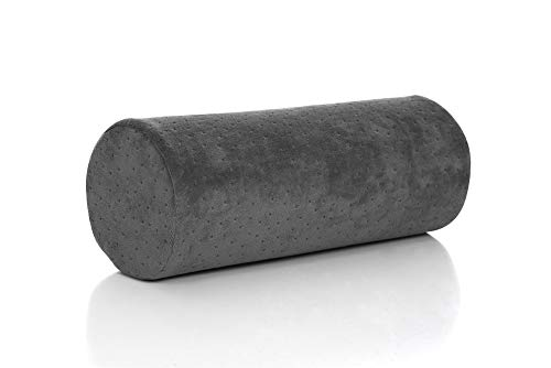 Bamboo Gray Round Cervical Roll Cylinder Bolster Pillow with Removable Washable Cover, Ergonomically Designed for Head, Neck, Back, and Legs || Ideal for Spine and Neck Support During Sleep