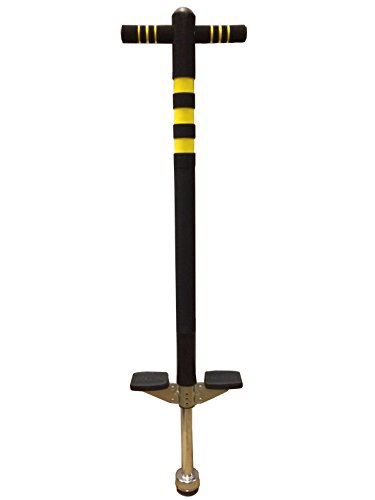Bounce Soft Easy Grip Sport Pogo Stick for 5-9 Years Age, Black and Yellow