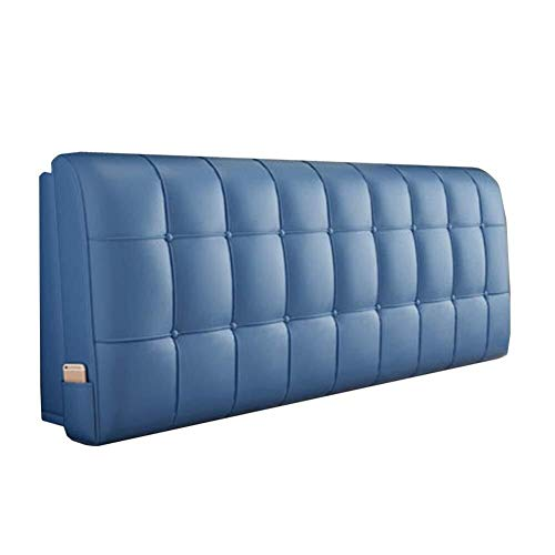 QI-shanping Sofa Bed Back Back Rest Pillow,Soft Double Bed Head Cushion, Large Back Cushion, Head Cushion, Headboard Cover, Leather Cushion (Color : A, Size : With headboard-150CM)
