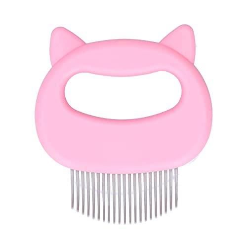 Hoseten Peine de Aseo para Gatos, Peine de Concha de Gato Duradero moderadamente doblado para Perro para Gato(Pink)