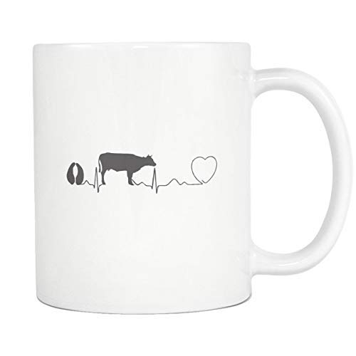 Maureen52Dorothy Veterinarian - Taza de café con pulso de vaca, 325 ml, regalo veterinario, taza de café veterinario, Dvm, regalo de cumpleaños