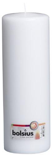 Bolsius Stumpenkerze für drinnen und draußen, 300x100mm, weiß