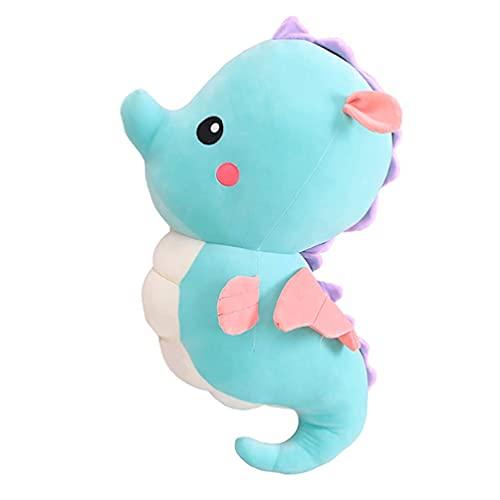Turtle Story Juguete de peluche de caballito de mar cómodo de peluche de animales de mar almohada abrazando muñeca interactiva perro juguete regalo de cumpleaños para niños JXNB