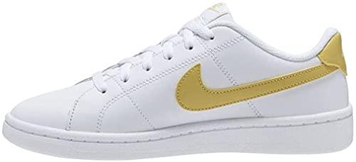 Nike Court Royale 2, Zapatos de Tenis Mujer, White Saturn Gold, 38.5 EU