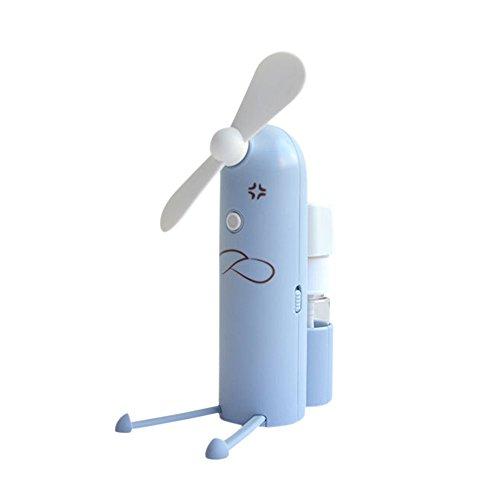 Decdeal Ventilatore USB Multifunzione, 1200 mAh Mini Ventilatore Tenuto in Mano Spruzzo Porta Cellulare Stile Incantevole Regalo Estivo