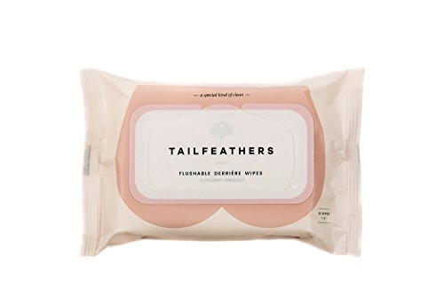 Tailfeathers (Coconut Hibiscus) biodegradable flushable wipes with plant based ingredients