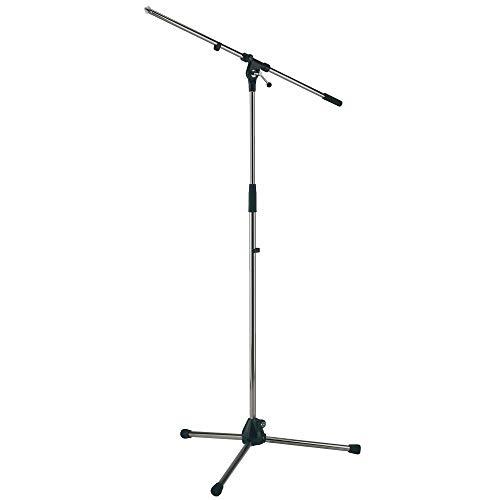 K&M - König & Meyer 21020.500.02 - Tripod Microphone Stand - Fixed Length Boom Arm - Professional...