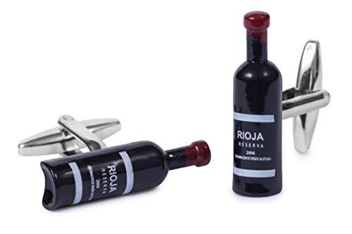 Sologemelos - Boutons De Manchette Bouteille De Vin - Noir - Hommes - Taille Unique