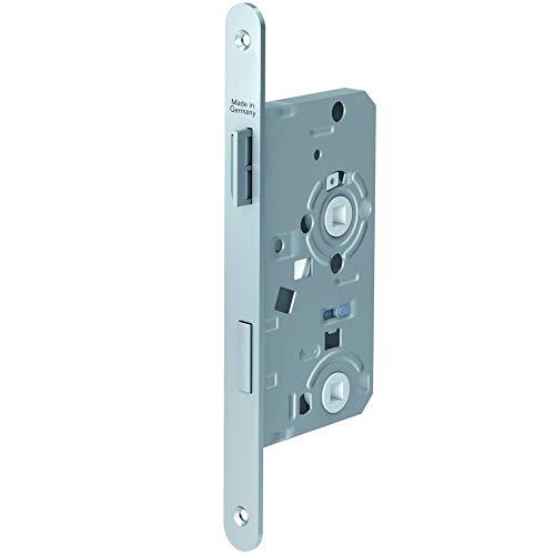 Secureo Einsteckschloss ES 935 für WC-Türen | Vierkant-Lochung | DIN links | Rundstulp 235x20 mm | 55/78/8 mm